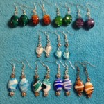 A selection of hand made earrings available via mail order.